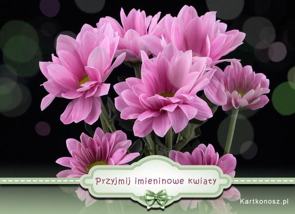 Przyjmij imieninowe kwiaty