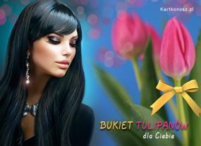 e Kartki  Bukiet tulipanów,
