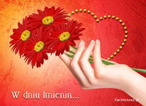 eKartki Z okazji Dnia Imieninowy gest,
