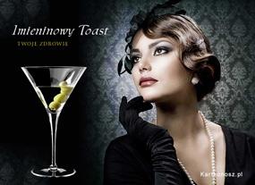 eKartki Z okazji Dnia Imieninowy toast,
