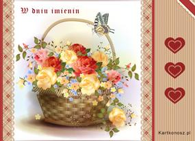 eKartki Z okazji Dnia Kosz pełen kwiatów,