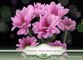 e Kartki Z okazji Dnia -> Imieniny Przyjmij imieninowe kwiaty,