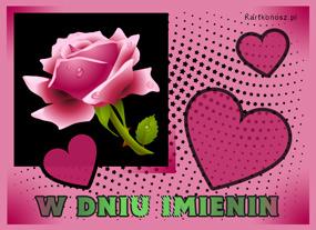 eKartki Z okazji Dnia Róża dla Solenizantki,