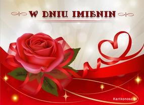 eKartki Z okazji Dnia Róża w dzień Imienin,
