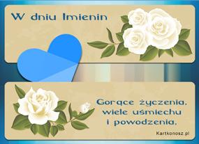 e Kartki Z okazji Dnia -> Imieniny Różane imieniny,