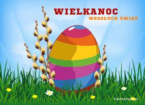 eKartki Wielkanoc Kolorowe jajo,