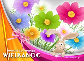 e Kartki  z tagiem: Kartki świąteczne Kwiatuszki na Wielkanoc,