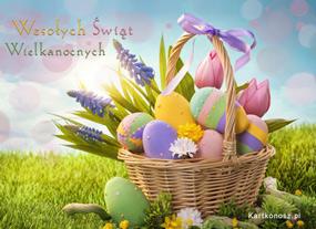 eKartki Wielkanoc W wielkanocnym koszu,