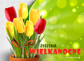 eKartki Wielkanoc Wielkanocne tulipanki,