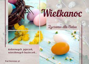 eKartki Wielkanoc Jednobarwne jajeczka,