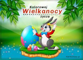e Kartki  z tagiem: Kartka elektroniczna Kolorowej Wielkanocy,