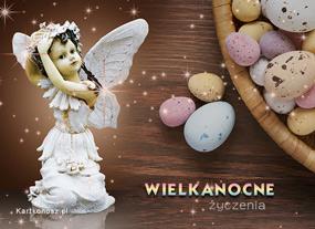 eKartki Wielkanoc Aniołek i Wielkanoc,