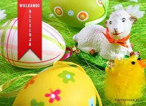 eKartki Wielkanoc Baranek Wielkanocny,