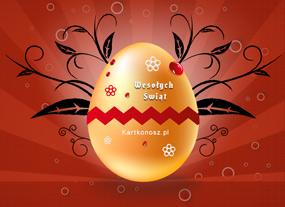 eKartki Wielkanoc Dekorowane jajo,