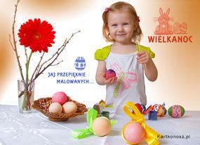 eKartki Wielkanoc Jaj przepięknie malowanych,