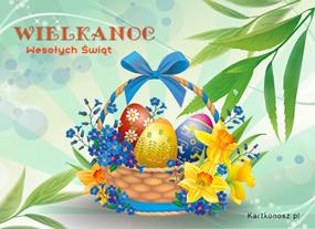 eKartki Wielkanoc Kosz na Wielkanoc,