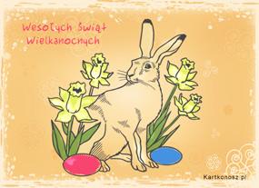 eKartki Wielkanoc Świąteczny szarak,