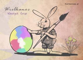 e Kartki  Wielkanocne malowidło,