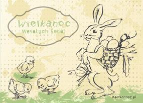 eKartki Wielkanoc Wielkanocny zwierzyniec,