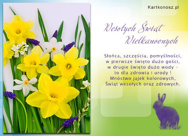 Wielkanocna kartka z życzeniami