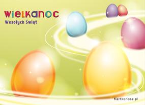 eKartki Wielkanoc Jaja malowane,