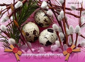 eKartki Wielkanoc Kartka z baziami,
