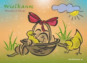 eKartki Wielkanoc Koszyczek na Wielkanoc,