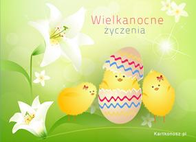 eKartki Wielkanoc Wielkanocne kurczątka,