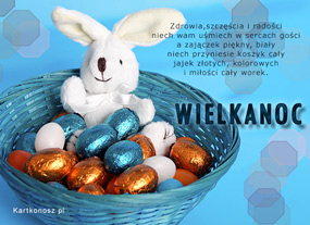 eKartki Wielkanoc Zajączek na Wielkanoc,