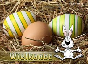 eKartki Wielkanoc Zajączek wielkanocny,