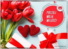 e Kartki  z tagiem: Walentynki kartki Poczuj moją miłość!,