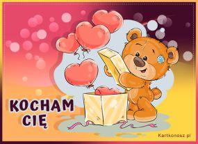 e Kartki  z tagiem: Walentynki kartki Zakochany Misio,