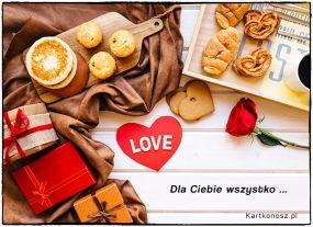 eKartki Miłość - Walentynki Dla Ciebie wszystko,