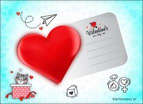 Karteczka dla Walentynki
