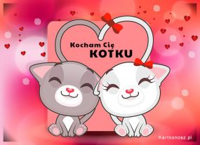 eKartki Miłość - Walentynki Kocham Cię Kotku!,