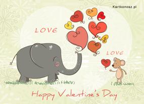 eKartki Miłość - Walentynki Kocham Cię Myszko,