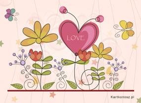 eKartki Miłość - Walentynki Miłość rozkwita,