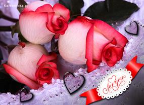 eKartki Miłość - Walentynki Róże pełne miłości,