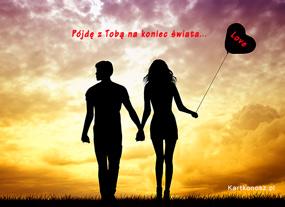 eKartki Miłość - Walentynki Spacer miłości,