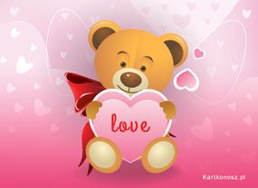 eKartki Miłość - Walentynki Wyznanie Misia,