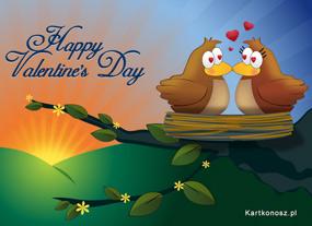 eKartki Miłość - Walentynki Zakochane ptaszki,