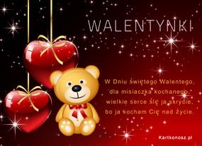 eKartki Miłość - Walentynki Dla Misiaczka kochanego,