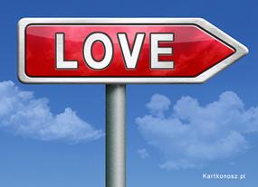 eKartki Miłość - Walentynki Drogowskaz miłośći,