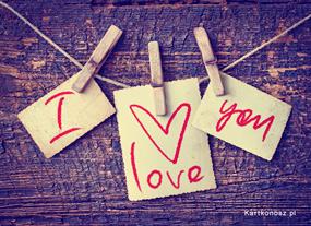 eKartki Miłość - Walentynki I Love You,