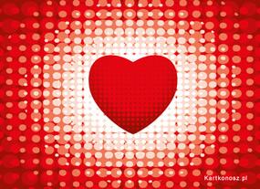 eKartki Miłość - Walentynki Kartka z sercem,