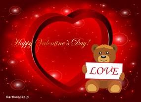 eKartki Miłość - Walentynki Kochający Misio,