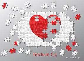 eKartki Miłość - Walentynki Miłosne puzzle,