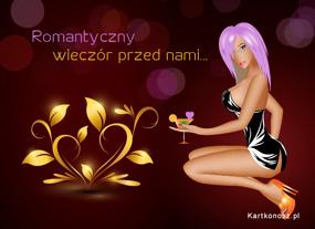 eKartki Miłość - Walentynki Romantyczny wieczór,