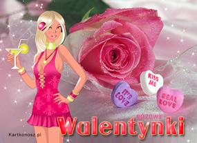 eKartki Miłość - Walentynki Różowe Walentynki,