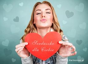 eKartki Miłość - Walentynki Serduszko dla Ciebie,